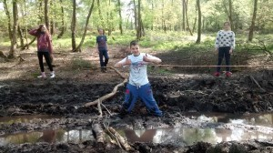 Stuck in the mud, no really!
