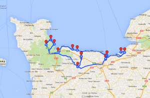 Normandy 2014 Map