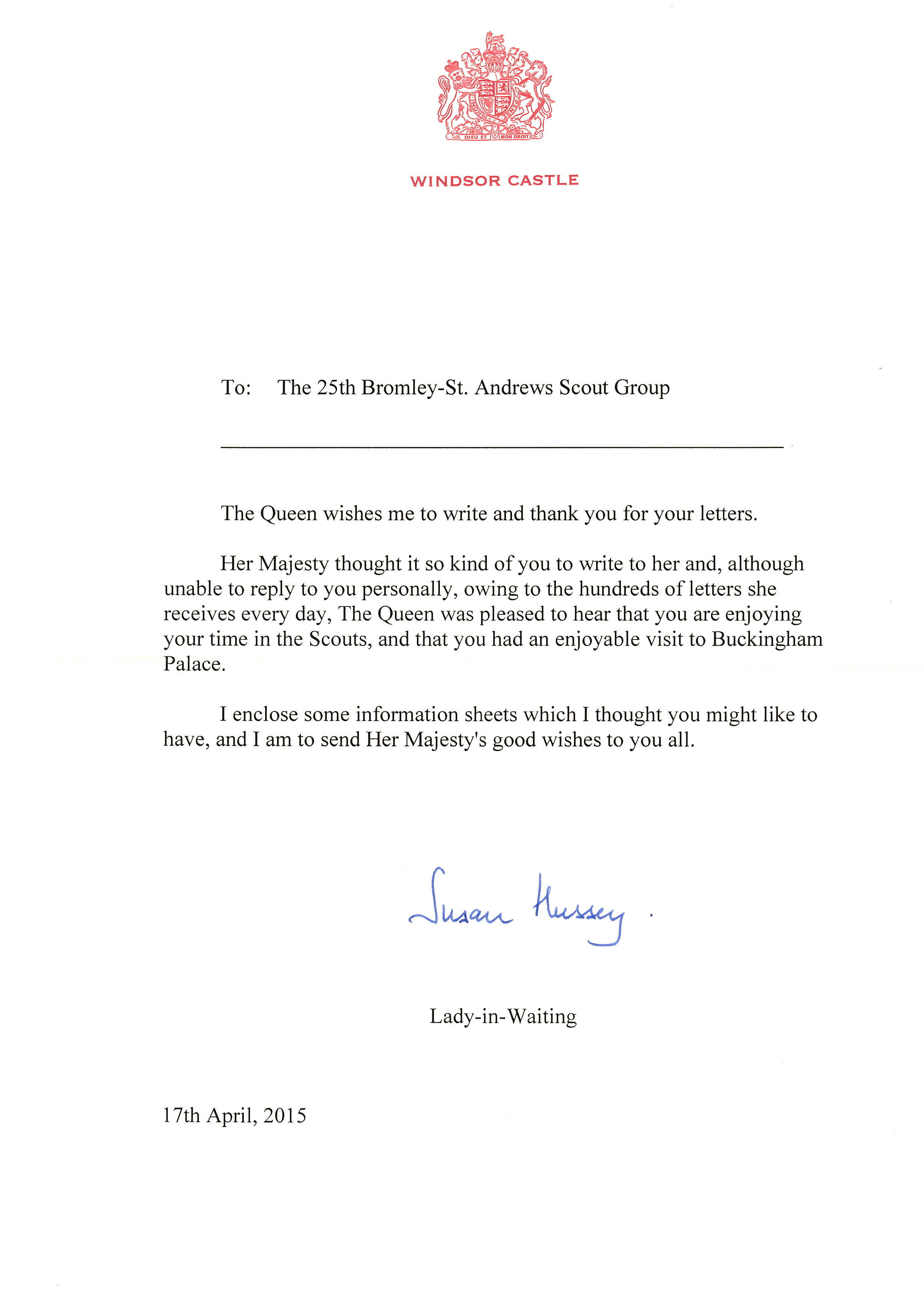 Cubs Get A Letter From The Queen
