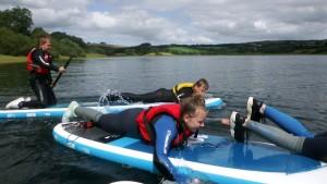 Paddle boarding at Wimbleball Lake