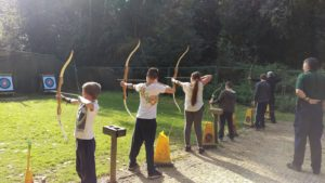 Archery session on Sunday morning